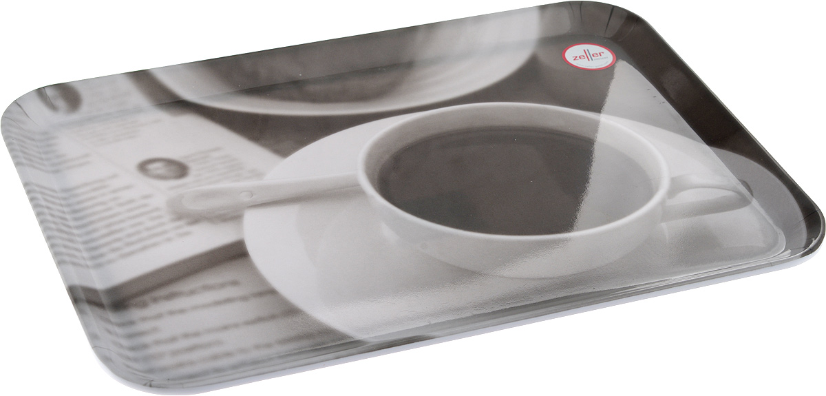 Поднос Zeller, 30,5 х 22 см26645Оригинальный поднос Zeller, изготовленный из пластика, станет незаменимым предметом для сервировки стола. Изделие декорировано стильным черно-белым рисунком. Поднос не только дополнит интерьер вашей кухни, но и предохранит поверхность стола от грязи и перегрева.Стильный поднос Zeller придется по вкусу и ценителям классики, и тем, кто предпочитает современный стиль.