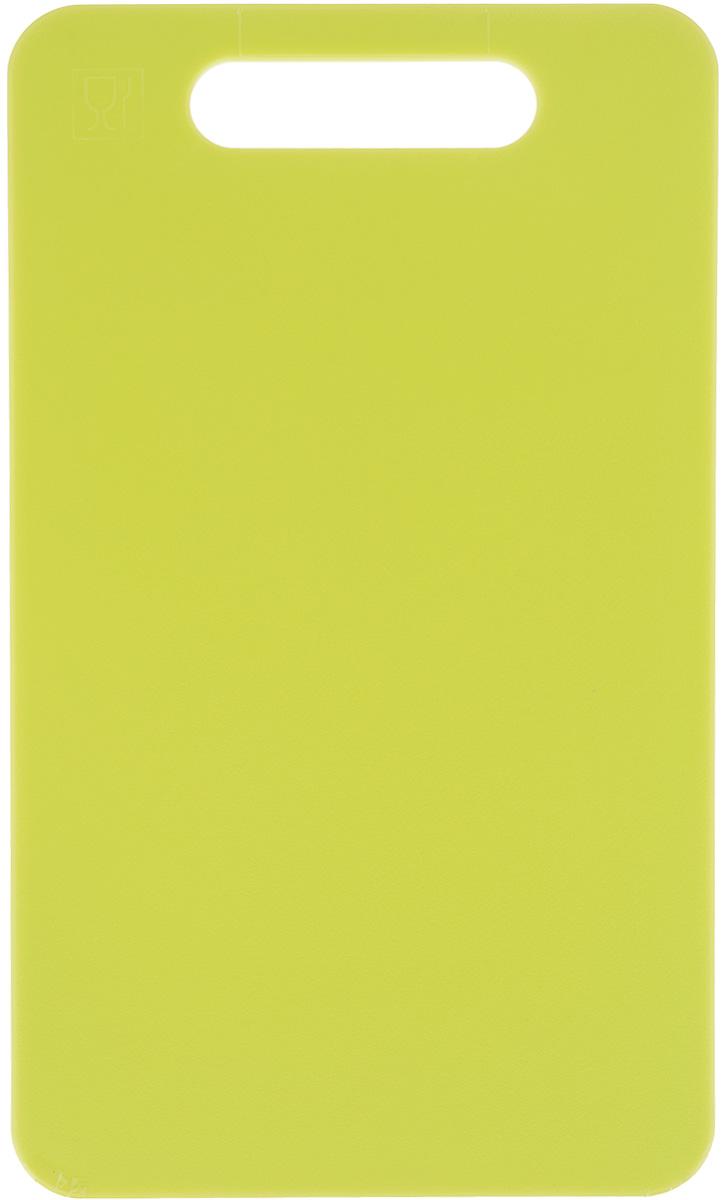 Доска разделочная Zeller, цвет: салатовый, 24 х 14 х 0,4 см доска разделочная idea голубые цветы 24 см х 15 см