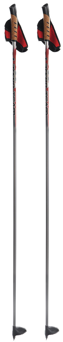 Палки лыжные Larsen Team, алюминиевые, длина 140 см221851-140Спортивные палки Larsen Team - это превосходный выбор для любителей активного катания на лыжах. Модель выполнена из легкого алюминия. Рукоятка выполнена из синтетической пробки и полипропилена, она имеет удобный хват, рука не мерзнет и не скользит по ручке. Гоночный темляк с конструкцией капкан удобно надевается и надежно поддерживает кисть. Облегченная лапка с твердосплавным наконечником не проваливается в снег.Спортивные палки подойдут как начинающим лыжникам, так и опытным спортсменам.Длина палок: 140 см.