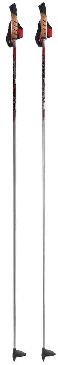 Палки лыжные Larsen Team, алюминиевые, длина 160 см221855-160Спортивные палки Larsen Team - это превосходный выбор для любителей активного катания на лыжах. Модель выполнена из легкого алюминия. Рукоятка выполнена из синтетической пробки и полипропилена, она имеет удобный хват, рука не мерзнет и не скользит по ручке. Гоночный темляк с конструкцией капкан удобно надевается и надежно поддерживает кисть. Облегченная лапка с твердосплавным наконечником не проваливается в снег.Спортивные палки подойдут как начинающим лыжникам, так и опытным спортсменам.Длина палок: 160 см.