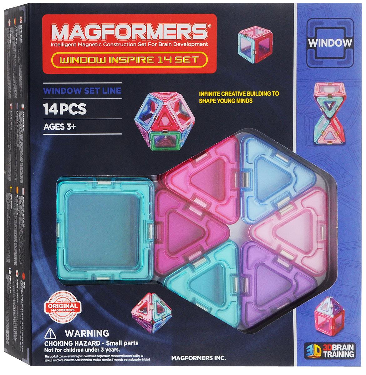 Magformers Магнитный конструктор Window Inspire Set 14 магнитный конструктор magformers window inspire 30 set 714004