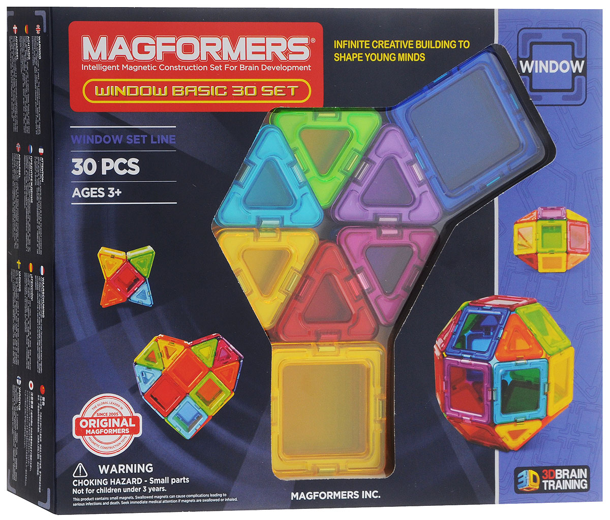 Magformers Магнитный конструктор Window Basic 30 Set magformers window basic 14 set 714001