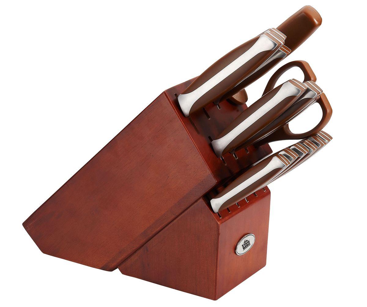Набор ножей Stahlberg, на подставке, 15 предметов ножи для кухни лучшие