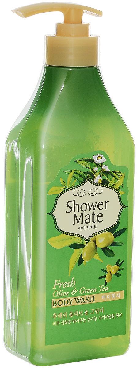 Shower Mate Гель для душа Оливки и зеленый чай, 550 г876756Богатый полезными веществами, экстракт оливы увлажняет и создает защитный слой для кожи. Катехины зеленого чая предотвращают преждевременное старение кожи, способствуют ее омоложению. Свежий аромат оливы и бодрящий аромат зеленого чая дарят ощущение прохлады и чистоты. Характеристики:Вес: 550 г. Артикул: 876756. Производитель: Корея. Товар сертифицирован.