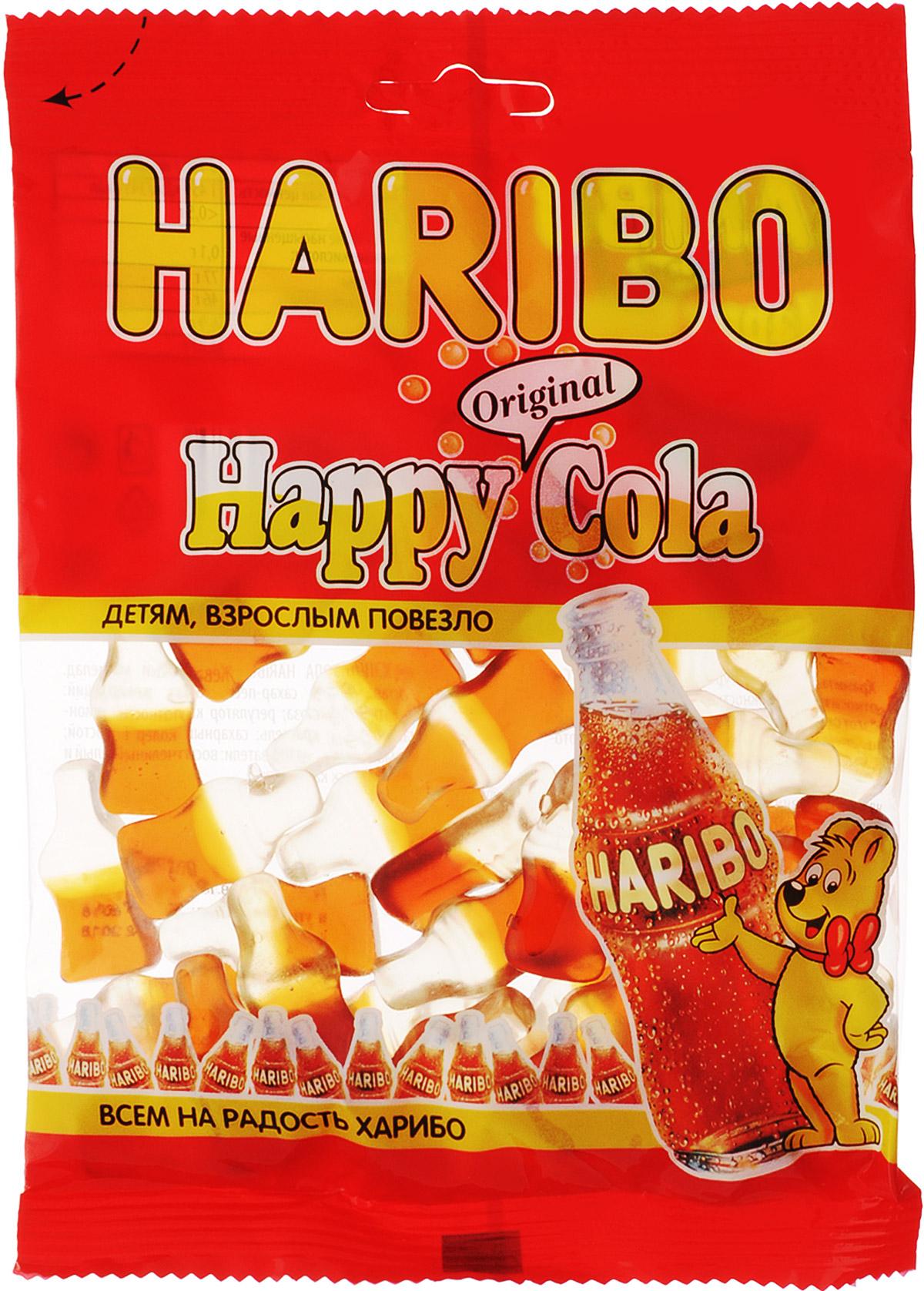 Haribo Happy Cola жевательный мармелад, 140 г haribo червячки вуммис жевательный мармелад 140 г