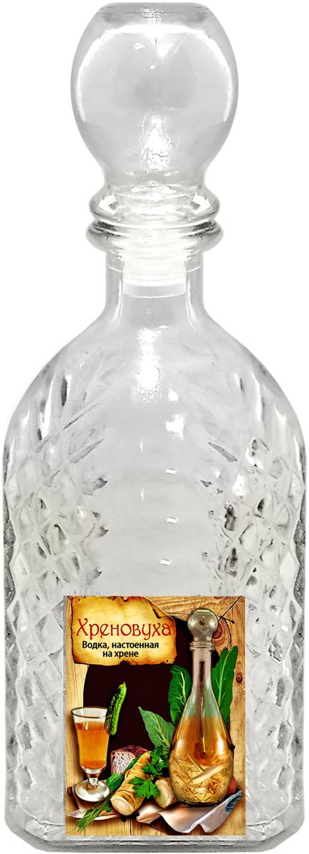 Штоф Kwestor Хреновуха. Арка, 500 мл5441522Штоф Kwestor Хреновуха. Арка выполнен из стекла. Штоф предназначен для хранения и подачи крепких алкогольных напитков. Снабжен крышкой.