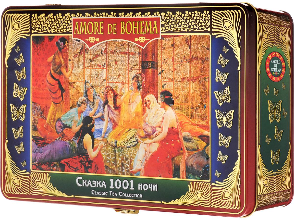 Amore de Bohema Сказка 1001 ночи подарочный набор листового чая, 350 г цена и фото