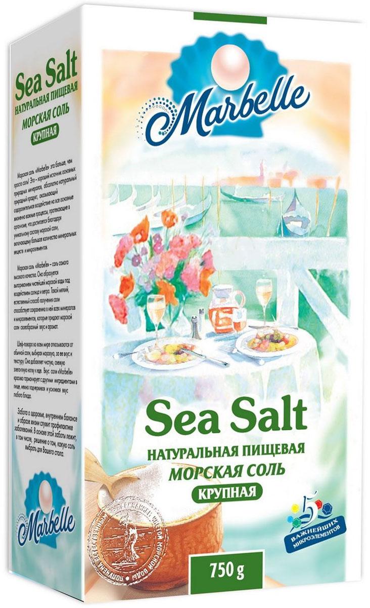 Marbelle соль морская пищевая крупная, 750 г3718Морская соль Marbelle это больше, чем просто соль! Это - хороший источник основных природных минералов, абсолютно натуральный природный продукт, оказывающий оздоровительное воздействие на все основные жизненно важные процессы, протекающие в организме, что достигается благодаря уникальному составу морской соли, включающему большое количество минеральных веществ и микроэлементов.Морская соль Marbelle - соль самого высокого качества. Она образуется выпариванием чистейшей морской воды под воздействием солнца и ветра. Такой мягкий, естественный способ получения соли способствует сохранению в ней всех минералов и микроэлементов, которые придают морской соли своеобразный вкус и аромат.Шеф-повара во всем мире отказываются от обычной соли, выбирая морскую, за ее вкус и текстуру. Она добавляет чистую, свежую элегантную нотку к еде. Вкус соли Marbelle красиво гармонирует с другими ингредиентами в пище, нежно подчеркивая и усиливая вкус любого блюда.забота о здоровье, внутреннем балансе и образе жизни служит профилактике заболеваний. В основе этой заботы лежит, в том числе, решение о том, кукую соль выбрать для вашего стола!