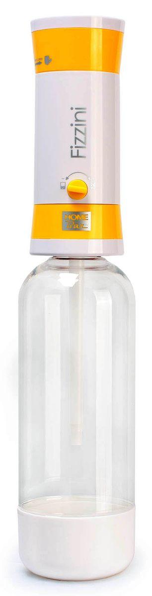 Набор для газирования воды Home Bar Fizzini NG, цвет: желтый, белый, прозрачный, 11 предметовfiZZini NG yellowНабор Home Bar Fizzini NG, выполненный из пластика, состоит из сифона и 10 баллонов. Он предназначен для газирования чистой охлажденной воды. Не требует электроэнергии. Для приготовления напитка сироп рекомендуется наливать в отдельную емкость. Сифон снабжен ручкой для регулирования насыщенности газа и двойной защитой (предохранительный клапан и кнопка сброса давления). Рекомендуемая температура воды 5°С. Подходит для 1 л и 1,5 л бутылки. Комплект: Сифон, баллоны 8 г / 10 шт. Объем сифона: 1 л. Баллон: 10 шт. Вес баллона: 8 г.