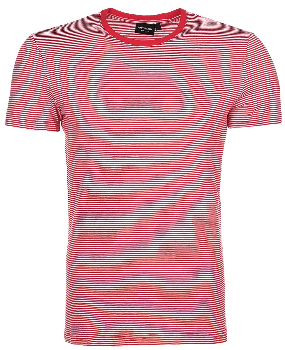Футболка мужская Finn Flare, цвет: красный, белый. B17-22023_300. Размер XL (52) finn line fi616awlim29