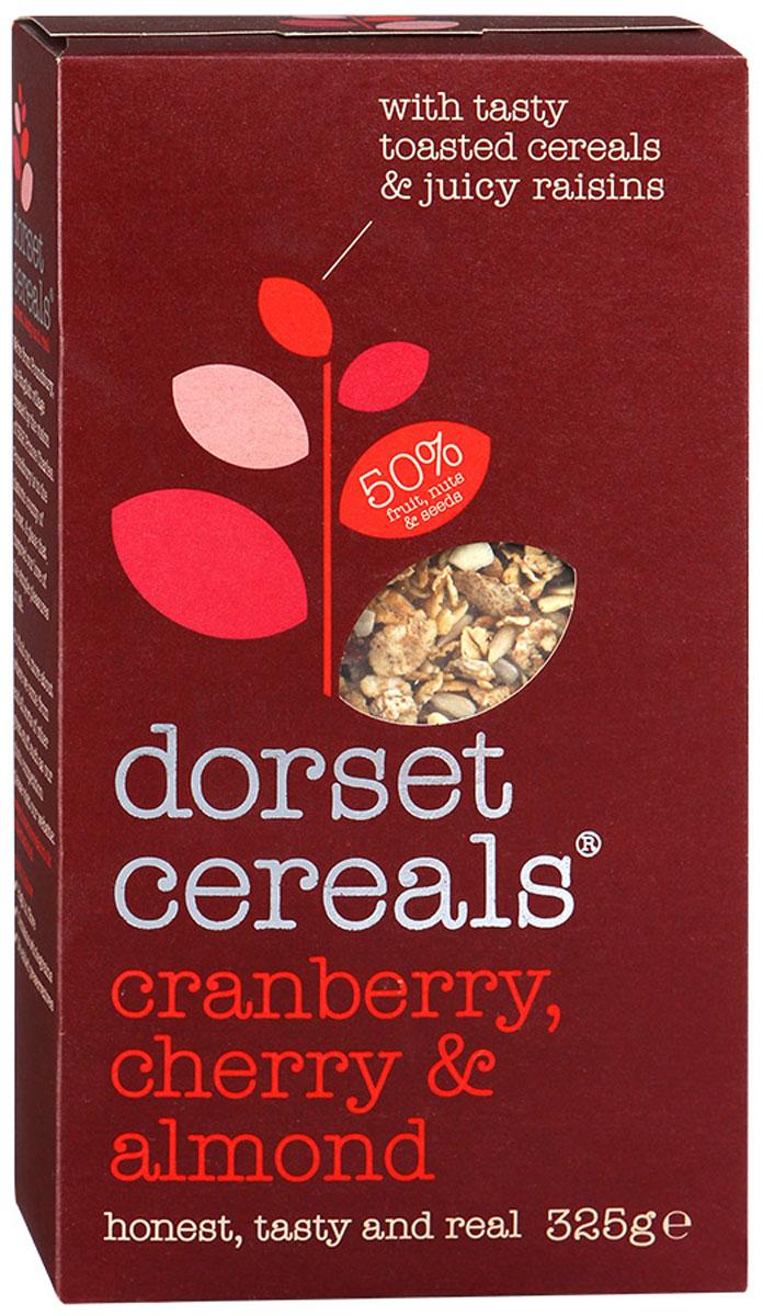 Dorset Cereals Супер клюква, вишня и миндаль мюсли, 325 гбйж002Мюсли Dorset Cereals Супер клюква, вишня и миндаль подходят для завтрака с молоком, йогуртом или фруктовым соком.Уважаемые клиенты! Обращаем ваше внимание, что полный перечень состава продукта представлен на дополнительном изображении.