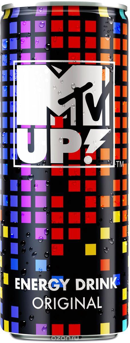 MTV UP! Original напиток энергетический газированный, 0,5 л0034700005900Энергетический напиток MTV UP! содержит натуральный кофеин, L-карнитин, экстракт семян гуараны и экстракт женьшеня. А также витамины C, B6, B12. Тонизирующий напиток не содержит консервантов.
