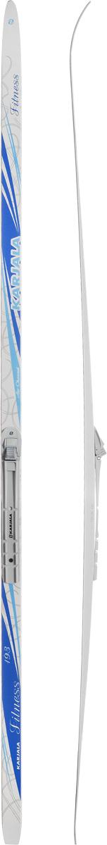 Лыжи беговые Karjala  Fitness Wax , с креплением NNN, цвет: белый, голубой, серый, рост 193 см - Беговые лыжи