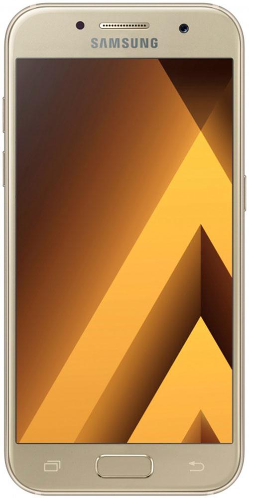 Samsung SM-A520F Galaxy A5 (2017), GoldSM-A520FZDDSERСовременный минималистичный корпус из 3D-стекла и металла, а также 5,2-дюймовый экран FHD sAMOLED - все это отличительные черты Galaxy A5 (2017).Плавные линии корпуса, отсутствие выступов камеры, утонченная и элегантная отделка позволяют получить настоящее удовольствие от использования смартфона.Будьте законодателями трендов, а не просто следуйте им. Стильные цветовые решения идеально гармонируют с корпусом из стекла и металла, создавая динамичный и цельный образ. Четыре модных цвета на выбор превосходно дополнят ваш стиль.Благодаря высокому разрешению основной камеры в 16 Mп фотографии всегда будут яркими и красочными. Вместе с Galaxy A5 (2017) почувствуйте себя профессиональным фотографом. Наличие широкого выбора фильтров позволяет подойти к процессу съемки более креативно. Теперь каждая фотография будет особенной.Где бы вы ни находились - на вечерней прогулке или в ночном клубе - ваши фотографии будут идеальными. Камера автоматически адаптируется даже к условиям недостаточной освещенности, а дисплей выполняет роль вспышки. Благодаря Smart-кнопке снимать селфи стало просто. Все, что нужно - выбрать расположение кнопки затвора на экране.Стандарт защиты от воды и пыли IP68 позволяет комфортно использовать смартфоны Galaxy A5 (2017) в любых условиях - будь то дождь или бассейн.Наслаждайтесь играми или просмотром видео еще дольше благодаря увеличенному объему аккумулятора и поддержке технологии быстрой зарядки.Все любимые видео, фото и музыка всегда с вами благодаря поддержке карт памяти объемом до 256 ГБ, а наличие разъема для 2-ух SIM-карт позволяет легко менять оператора во время путешествий.С функцией Always On Display вся актуальная информация всегда на экране. Просматривайте время, события в календаре и непрочитанные уведомления даже если смартфон находится в спящем режиме.Храните конфиденциальную информацию в защищенной папке. Благодаря безопасной среде KNOX вы можете быть уверены, что ваша личная информация 