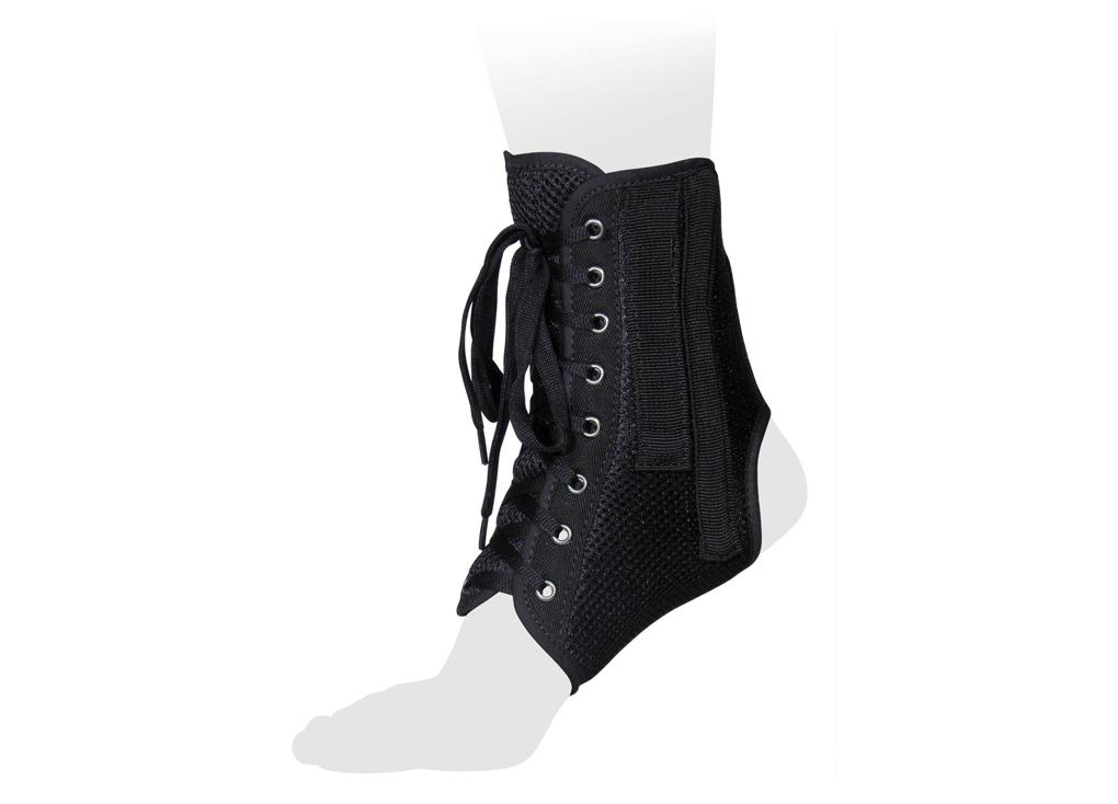 Ttoman Бандаж на голеностопный сустав со шнуровкой и ребрами жесткости AS-ST. Размер 0/XSAS-ST XSОсобенности:• 4 съемных моделируемых металлических ребра жесткости • регулировка на шнуровке • подходит для ношения в свободной обуви • воздухо- и влагопроницаемый материал• цвет: черныйПоказания к применению:• хроническая нестабильность голеностопного сустава• растяжения и разрывы связок голеностопного сустава• реабилитация после травм и операций• травмы лодыжекИзмерения размера производить в области окружности над лодыжкой.XS 14-17; S 17-20; M 20-23; L 23-26; XL 26-29