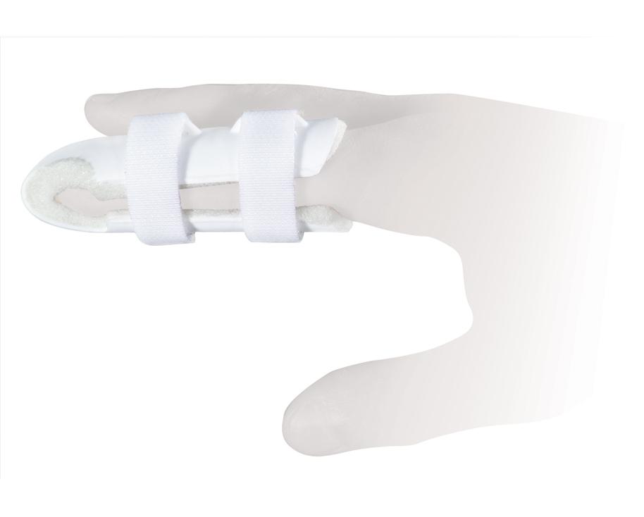 Ttoman Бандаж для фиксации пальца FS-004. Размер 2/MFS-004-D MОсобенности: пластик фиксирующая лента на застежке Велкро мягкая прокладка под палецразмеры: S - 5,7 см, M - 6,7 см (один фиксатор «велкро»), L - 7,7 см, XL - 9 см (два фиксатор «велкро») Показания к применению: травмы фаланговых суставов пальца Состав: нейлон - 100% пластик