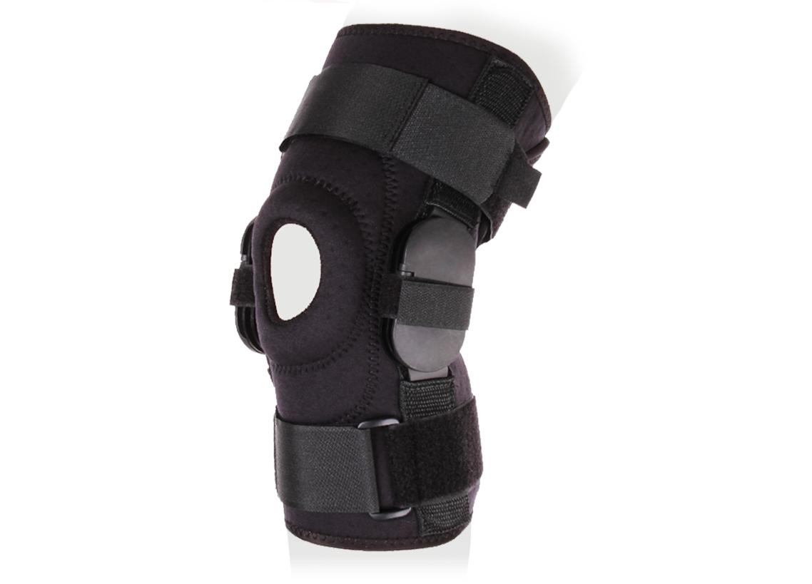 Ttoman Бандаж на коленный сустав разъемный с регулятором угла сгибания KS-RPA. Размер 1/МKS-RPA Mполицентрические регулируемые шарниры (0-110°)разъем сзади воздухо- и влагопроницаемый материал силиконовое пателлярное кольцо цвет: черный(S)над коленной чашечкой 36-42(M)над коленной чашечкой 40-46(L)над коленной чашечкой 44-50(XL)над коленной чашечкой 48-54Состав:аэропрен - 35%хлопок - 28%эластан - 21%нейлон - 8%лайкра - 8%