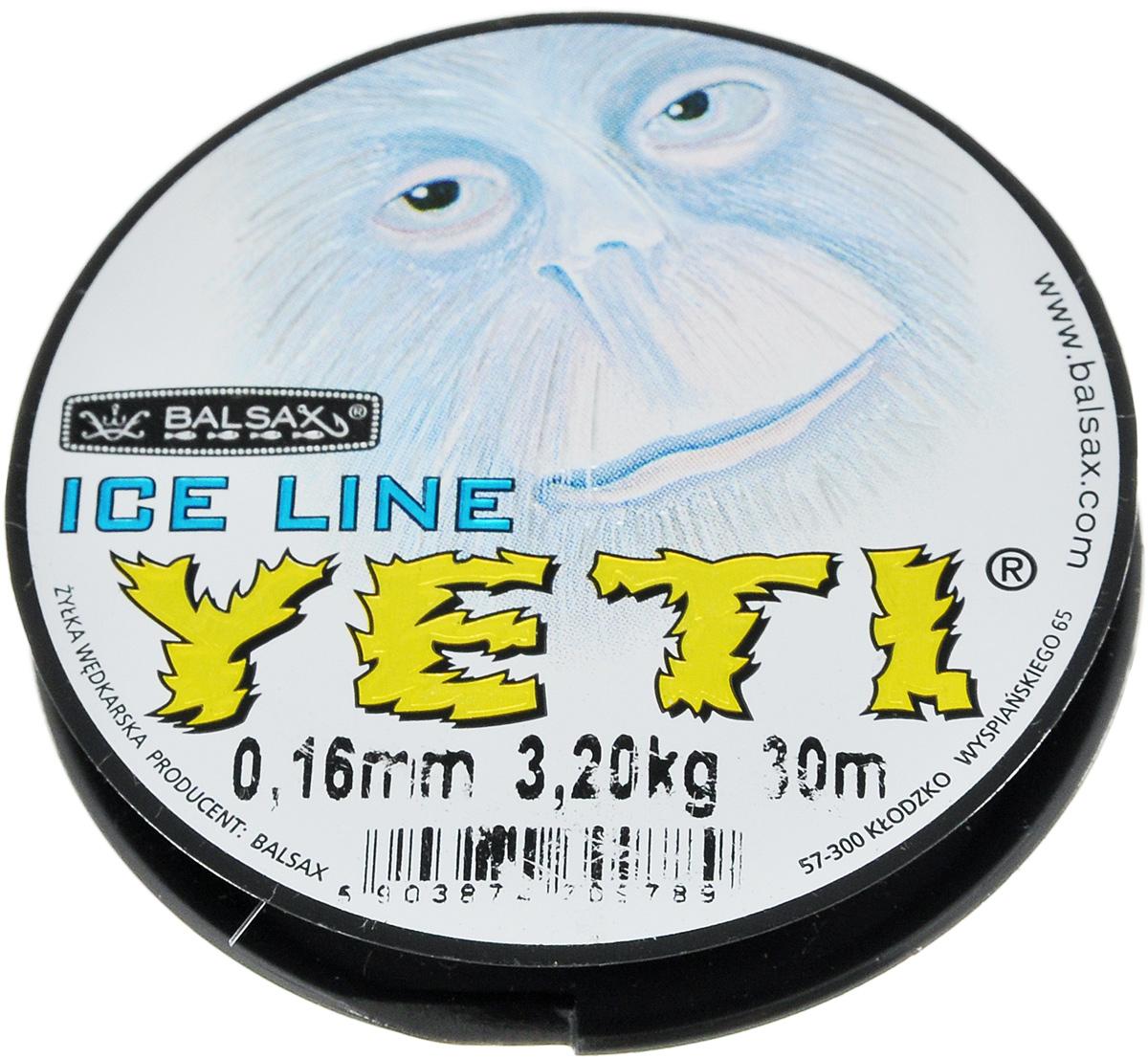 Леска зимняя Balsax Yeti, 30 м, 0,16 мм, 3,2 кг310-14016Леска зимняя Balsax Yeti изготовлена из 100% нейлона и очень хорошо выдерживаетнизкие температуры. Поверхность лески обработана таким образом, что она не обмерзает и отличноподходит для подледного лова. Прочна вместах вязки узлов даже при минимальном диаметре.