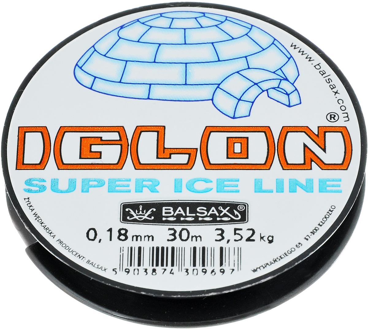 Леска зимняя Balsax Iglon, 30 м, 0,18 мм, 3,52 кг леска balsax focus 100 м 0 45 мм 21 9 кг