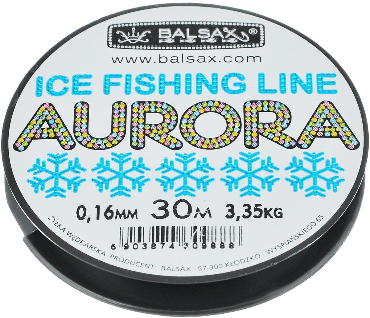 Леска зимняя Balsax Aurora, 30 м, 0,16 мм, 3,35 кг310-04016Леска зимняя Balsax Aurora изготовлена из 100% нейлона иочень хорошо выдерживает низкие температуры. Поверхность лески обработана таким образом, что она необмерзает и отлично подходит для подледного лова. Прочна вместах вязки узлов даже при минимальном диаметре.