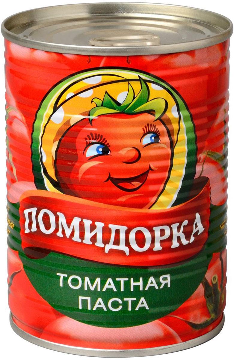 Помидорка Томатная паста, 380 г2197Томатная паста Помидорка - гармоничный продукт с оригинальным свежим вкусом, насыщенным цветом и ароматом. В ней отсутствуют искусственные пищевые добавки - это полностью натуральный продукт. Томатная паста Помидорка очень густая (содержит более 25-28% сухих веществ) и приготовлена только из помидоров.