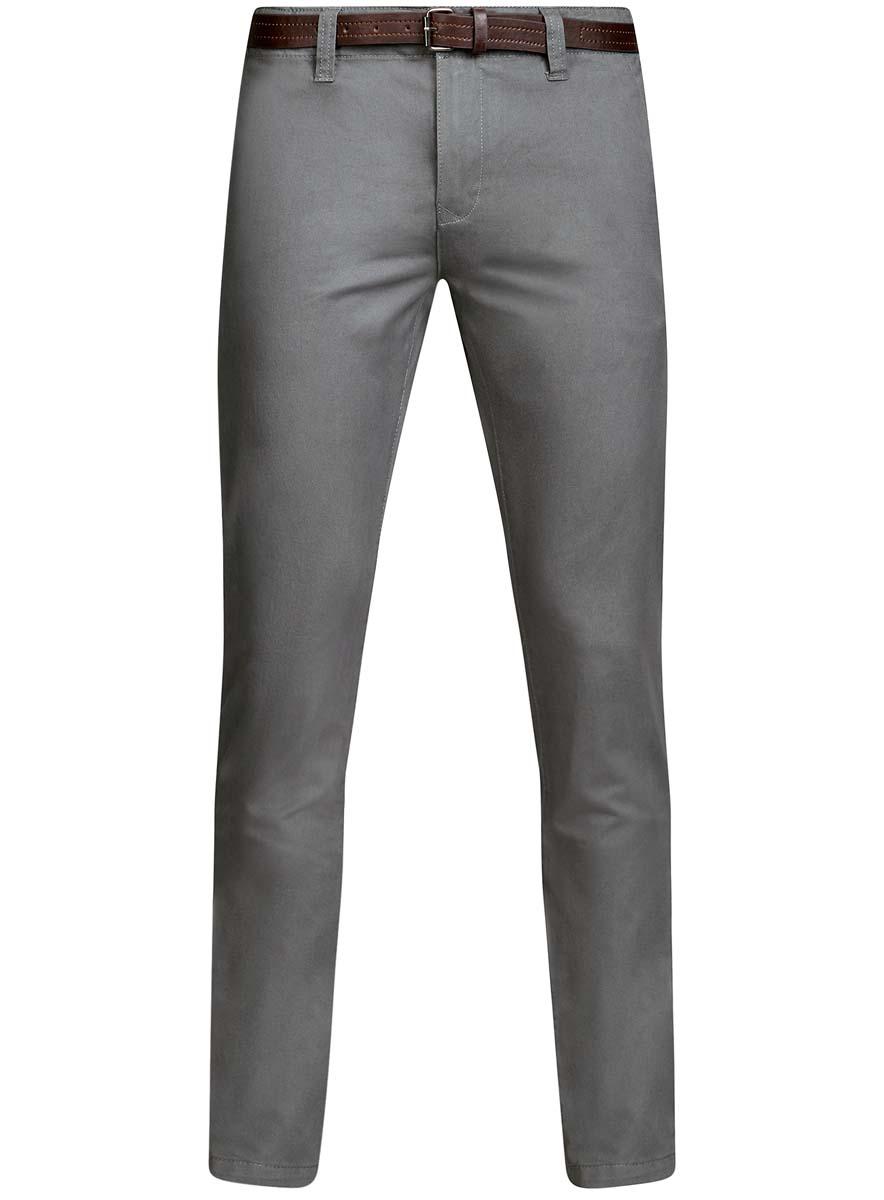 Брюки мужские oodji Basic, цвет: серый. 2B150022M/25735N/2300N. Размер 40-182 (48-182)2B150022M/25735N/2300NМужские брюки oodji Basic выполнены из высококачественного материала. Модель-чинос стандартной посадки застегивается на пуговицу в поясе и ширинку на застежке-молнии. Пояс имеет шлевки для ремня. Спереди брюки дополнены втачными карманами, сзади - прорезными на пуговицах.
