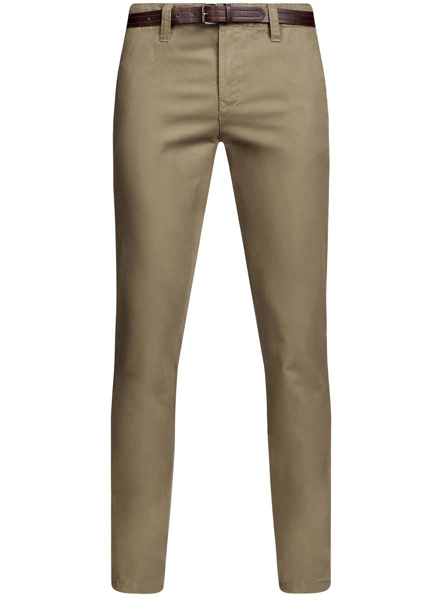 Брюки мужские oodji Basic, цвет: бежевый. 2B150022M/25735N/3300N. Размер 42-182 (50-182)2B150022M/25735N/3300NМужские брюки oodji Basic выполнены из высококачественного материала. Модель-чинос стандартной посадки застегивается на пуговицу в поясе и ширинку на застежке-молнии. Пояс имеет шлевки для ремня. Спереди брюки дополнены втачными карманами, сзади - прорезными на пуговицах.