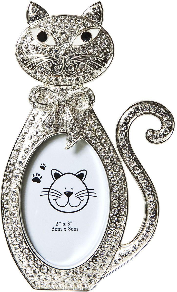 Фоторамка Platinum Котенок, цвет: светло-серый, 5 х 6 см. PF10255 набор для вышивания крестом luca s дневной котенок 5 5 х 10 см