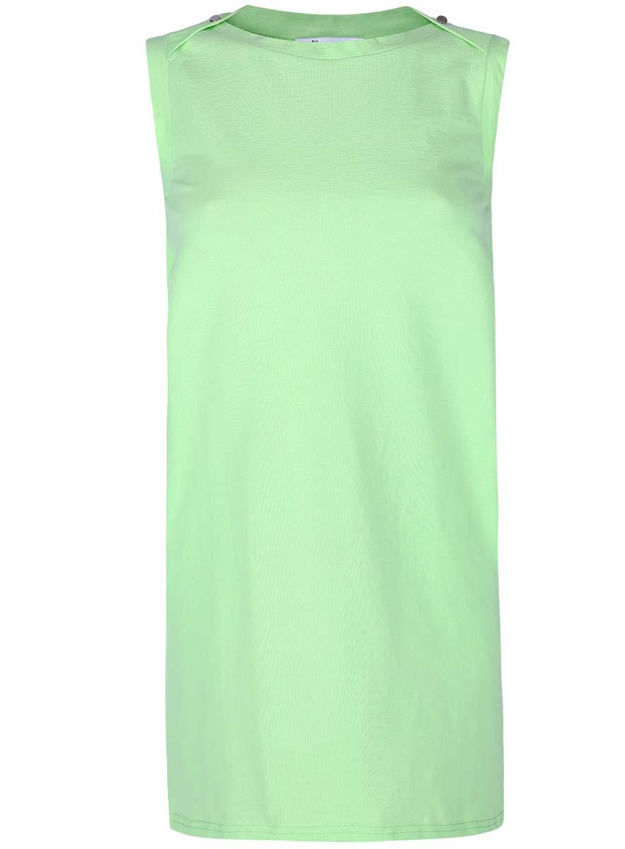 Платье oodji Ultra, цвет: зеленый. 14005074-1B/46149/6A00N. Размер XXS (40-170)