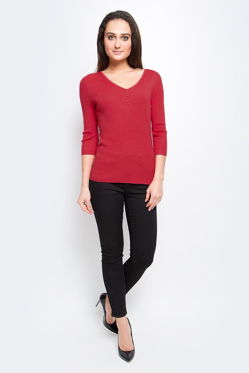 Пуловер женский Finn Flare, цвет: красный. B17-11101_326. Размер L (48) платье finn flare chapurin цвет желтый cs17 17035 410 размер l 48