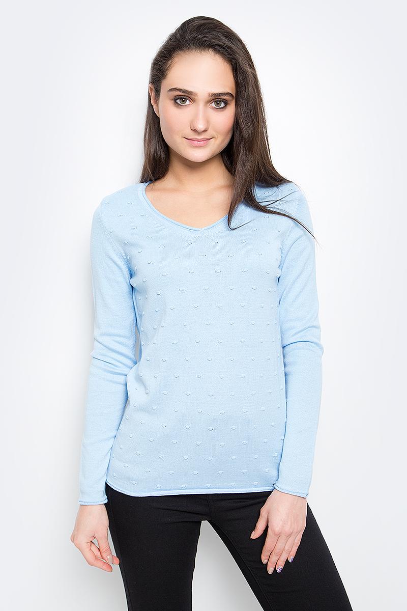 Пуловер женский Finn Flare, цвет: голубой. B17-11120_139. Размер S (44) женский пуловер women s fashion boutique show 2015 s wf 4425
