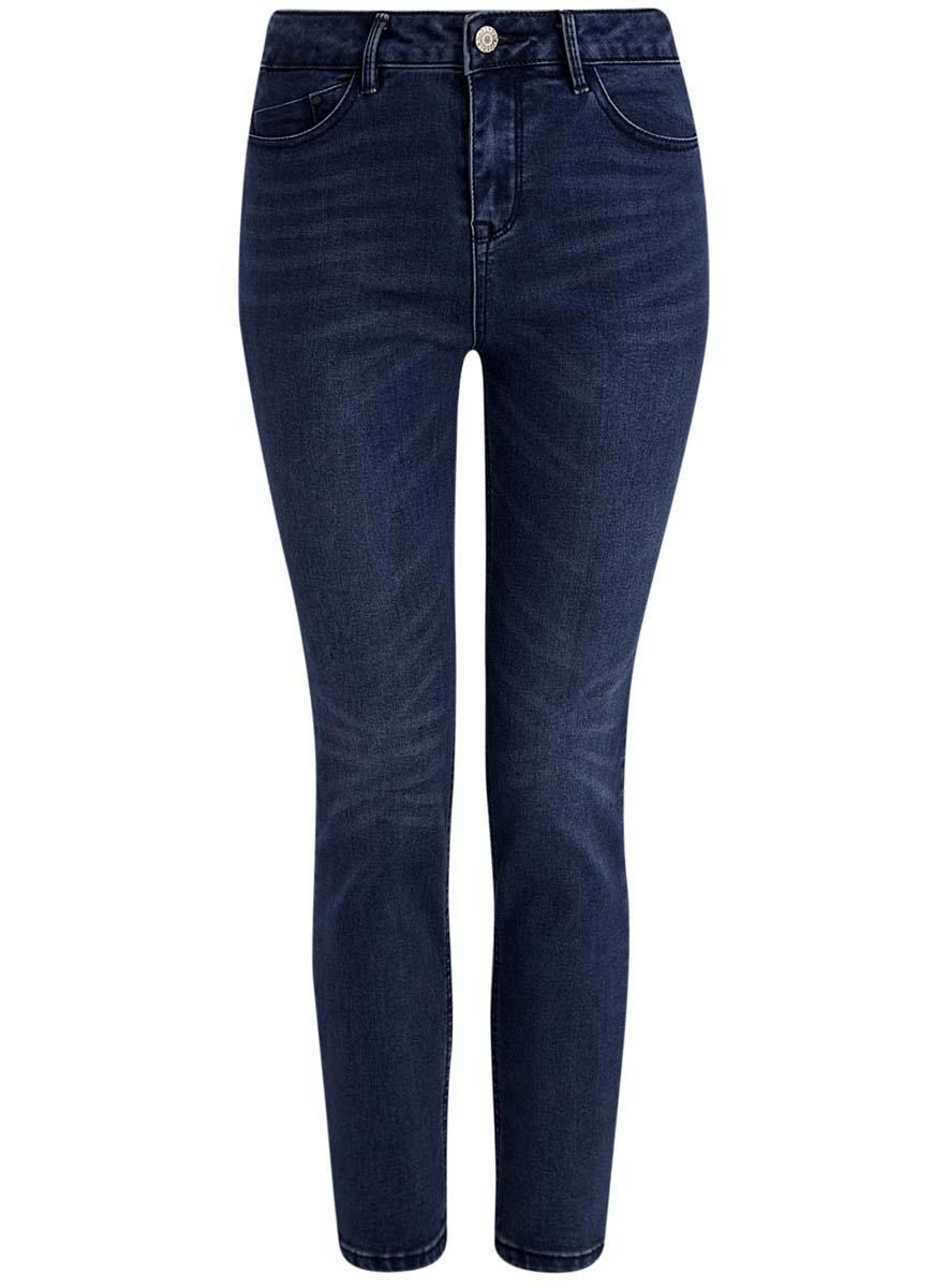 Джинсы женские oodji Ultra, цвет: темно-синий. 12106138/45875/7900W. Размер 27-32 (44-32) джинсы женские oodji ultra цвет темно синий джинс 12103145b 46341 7900w размер 26 32 42 32