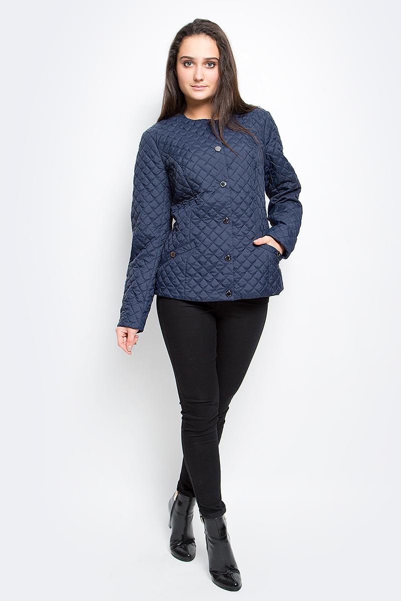 Куртка женская Finn Flare, цвет: темно-синий. B17-11004_101. Размер S (44) плащ мужской finn flare цвет темно синий b17 21006 101 размер l 50