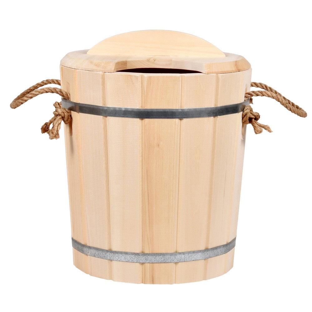 Запарник Банные штучки, с крышкой, 25 л03607Запарник Банные штучки, изготовленный из дерева, доставит вам настоящее удовольствие от банной процедуры. При запаривании веник обретает свою природную силу и сохраняет полезные свойства.Корпус запарника состоит из стянутых металлическими обручами клепок. Запарник оснащен деревянной крышкой с отверстием для веника и ручкой из веревки.Интересная штука - баня. Место, где одинаково хорошо и в компании, и в одиночестве. Перекресток, казалось бы, разных направлений - общение и здоровье. Приятное и полезное. И всегда в позитиве. Характеристики:Материал: дерево (липа), металл. Высота запарника (без ушек): 36 см. Высота запарника (с ушками): 45 см. Диаметр запарника по верхнему краю: 36 см. Объем: 25 л. Артикул: 03607.УВАЖАЕМЫЕ КЛИЕНТЫ! Обращаем ваше внимание на допустимые незначительные изменения в дизайне товара.