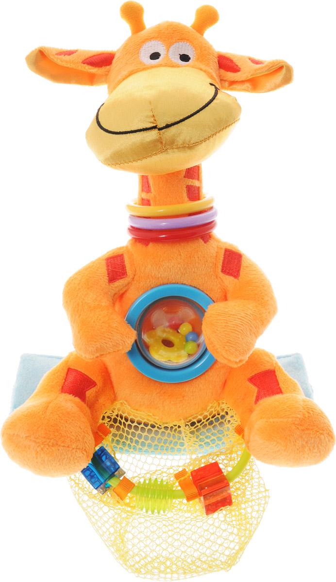 WeeWise Развивающая игрушка для прогулочной коляски Жираф weewise безопасное детское зеркальце в автомобиль мишка
