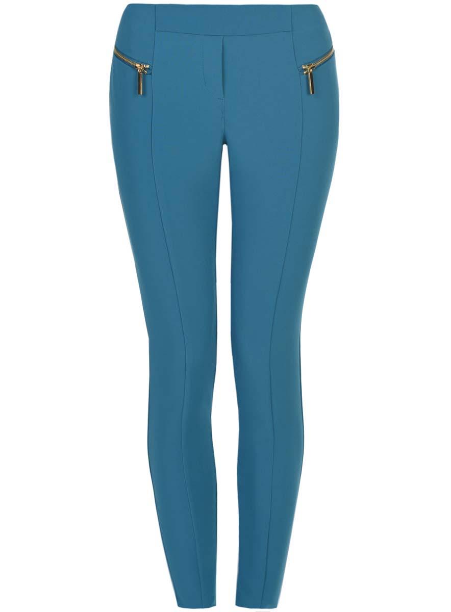 цены Брюки женские oodji Collection, цвет: голубой. 21707013-1/42250/7400N. Размер 36-170 (42-170)
