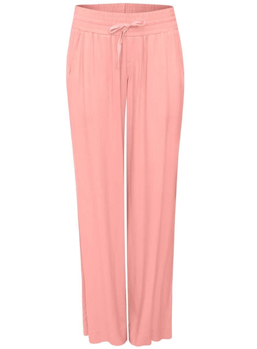 Брюки женские oodji Ultra, цвет: розовый. 11701017-3/19891/4100N. Размер 36-170 (42-170)