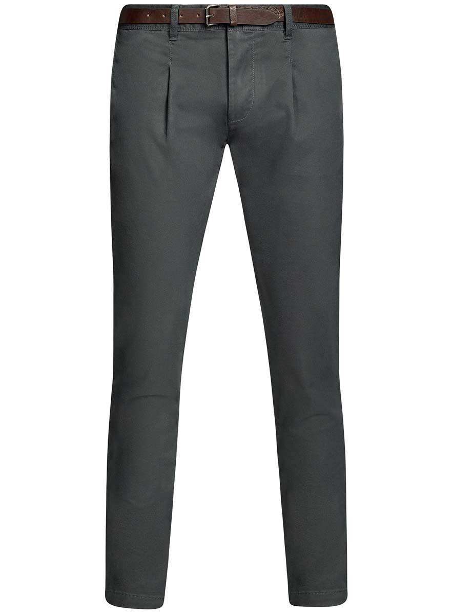 Брюки мужские oodji Lab, цвет: темно-серый. 2L150094M/46240N/2500N. Размер 48-182 (56-182) платье oodji collection цвет красный 24007026 37809 4500n размер l 48