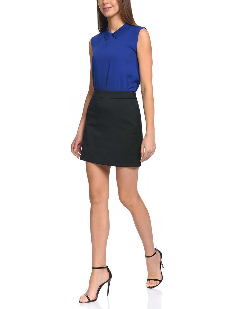 Юбка oodji Ultra, цвет: черный. 11601179-8/45523/2900N. Размер 42-170 (48-170) платье oodji ultra цвет черный 14015017 1b 48470 2900n размер l 48