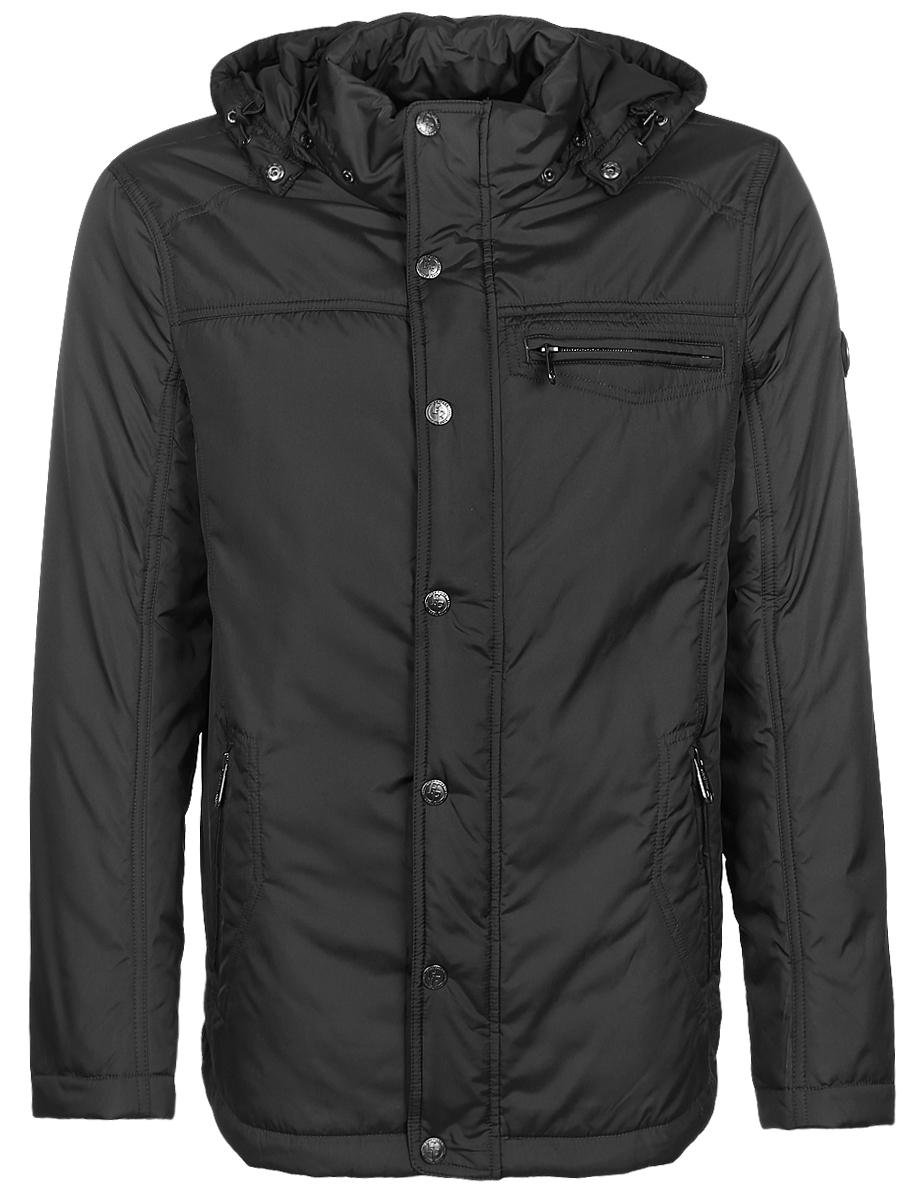 Куртка мужская Finn Flare, цвет: темно-коричневый. B17-21003_601. Размер XXL (54) футболка мужская finn flare цвет белый s17 21023 201 размер xxl 54