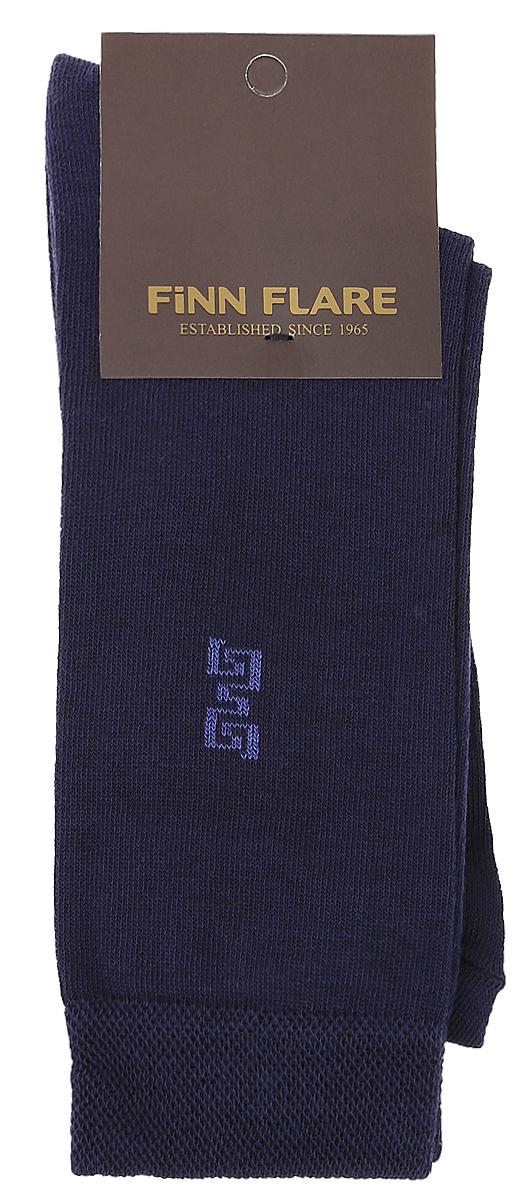 Носки мужские Finn Flare, цвет: темно-синий. B17-21118_101. Размер XL (43/44)B17-21118_101Мужские носки Finn Flare изготовлены из высококачественного эластичного хлопка с добавлением полиамида. Удлиненные носки имеют эластичную резинку, которая надежно фиксирует изделие на ноге.