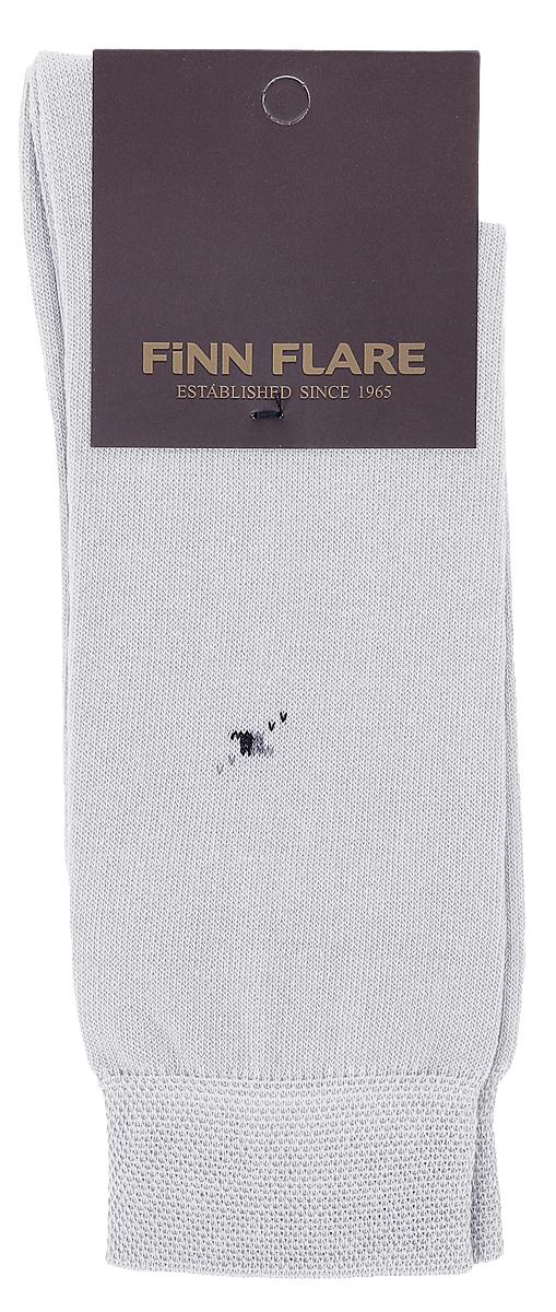 Носки мужские Finn Flare, цвет: светло-серый. B17-21119_211. Размер XL (43/44)B17-21119_211Мужские носки Finn Flare изготовлены из высококачественного эластичного хлопка с добавлением полиамида. Удлиненные носки имеют эластичную резинку, которая надежно фиксирует изделие на ноге.