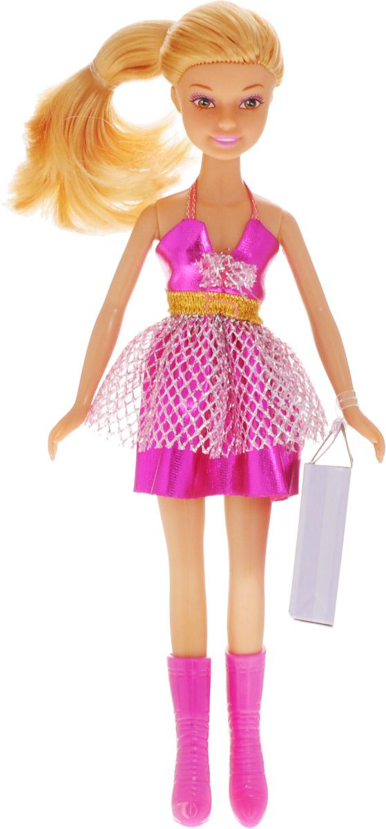 Defa Кукла Lucy цвет платья фуксия кукла defa lucy 8303a