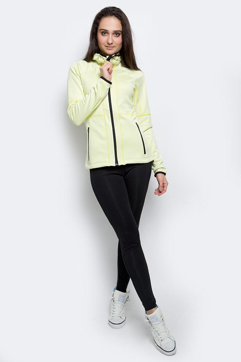 Толстовка женская adidas W 1Side Ho FL, цвет: желтый. AP8746. Размер 34 (40)AP8746Уютная женская толстовка выполнена из теплого флиса для комфортных пеших походов в прохладную погоду. Махровая ткань обеспечивает ощущение невероятной мягкости. Облегающий капюшон, нижний край на завязках-шнурках и эластичные манжеты не позволяют холоду проникнуть внутрь. Передние карманы на молниях.