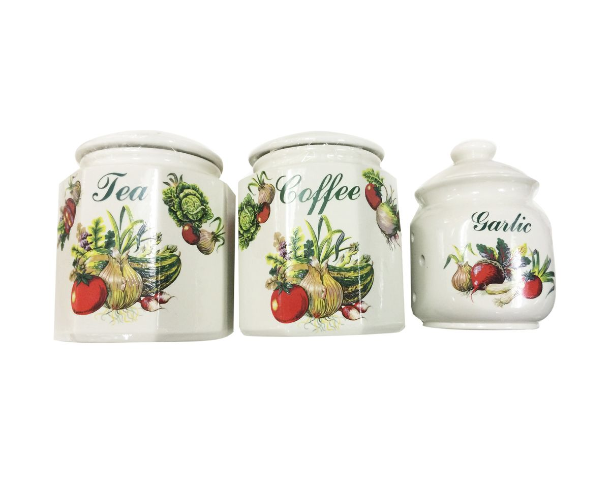 Набор банок для сыпучих продуктов Melba Овощи, 3 штМС 708/3Ч