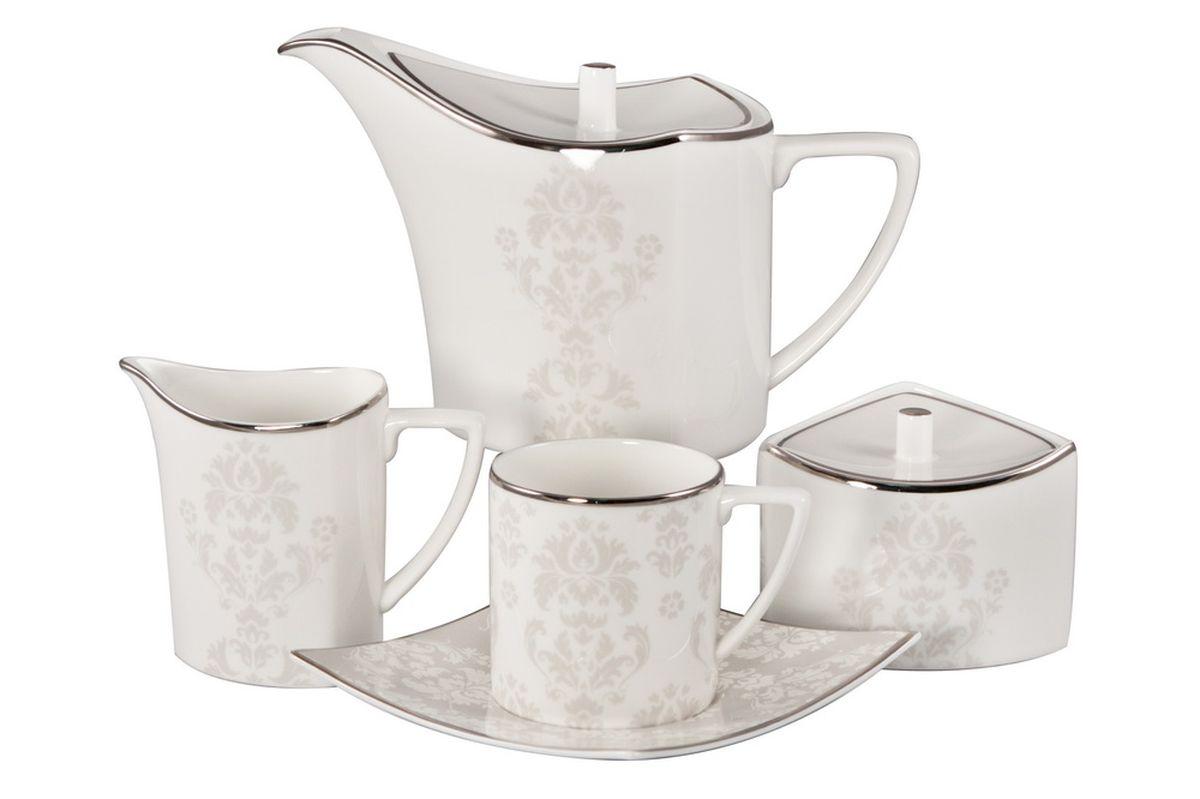 Сервиз чайный Royal Bone China Париж, 17 предметов сливочник 250 мл white royal bone china сливочник 250 мл white