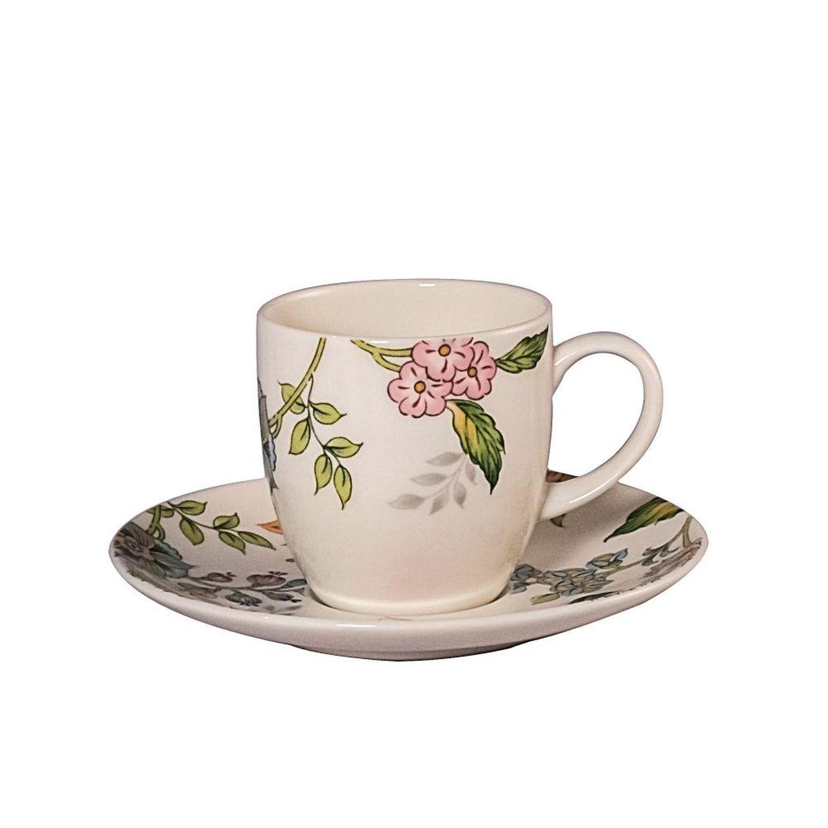 Набор кофейный Royal Bone China Прованс, 12 предметов9016/12275Набор Royal Bone China Прованс состоит из шести кофейных пар (6 чашек и 6 блюдец), изготовленных из высококачественного фарфора и оформленных цветочным рисунком. Яркий дизайн, несомненно, придется вам по вкусу.Такой набор украсит ваш кухонный стол, а также станет замечательным подарком к любому празднику.Объем чашек: 100 мл.Диаметр блюдца: 12 см. Диаметр чашки: 6 см.Высота чашки: 8 см.