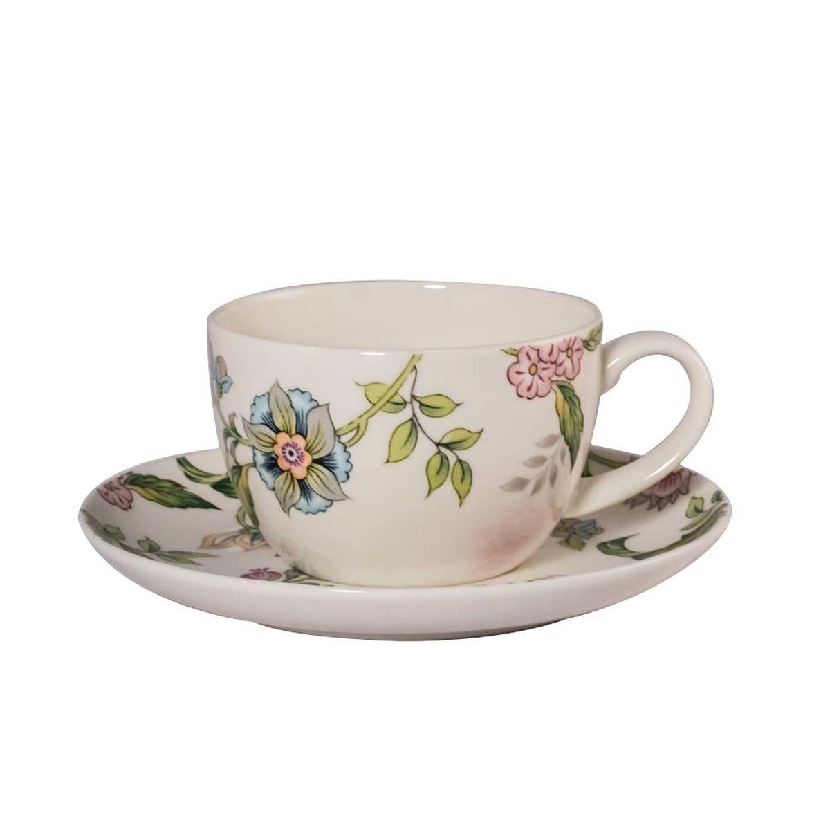 Набор чайный Royal Bone China Прованс, 12 предметов9016/12274Набор Royal Bone China Прованс состоит из шести чашек и шести блюдец, изготовленных из высококачественного фарфора. Чашки оформлены красочным рисунком. Такой набор подходит для подачи чая или кофе.Объем чашки: 250 мл. Диаметр блюдца: 15,5 см.Диаметр чашки: 12 см. Высота чашки: 9 см.