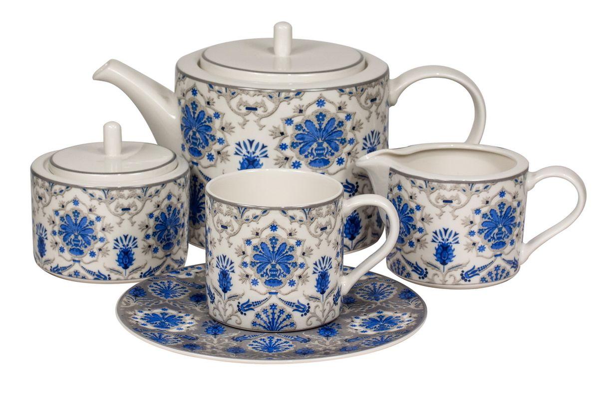 Сервиз чайный Royal Bone China Ханнах, 17 предметов9027/17104