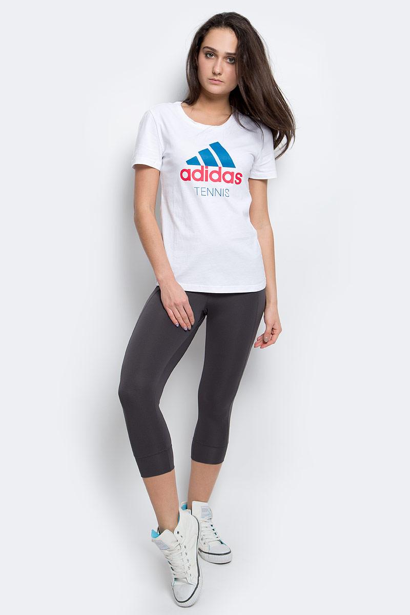 Футболка женская adidas Tennis, цвет: белый. AY5027. Размер XL (52/54) футболка adidas футболка camiseta climacool aeroknit
